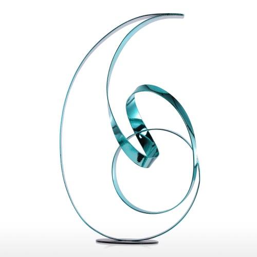 Tooarts La cinta de pie Metal Escultura Escultura moderna Escultura abstracta