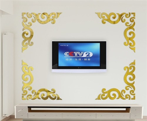 Hot mirror wall stickers