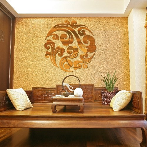 European Xiangyun mirror wall stickers