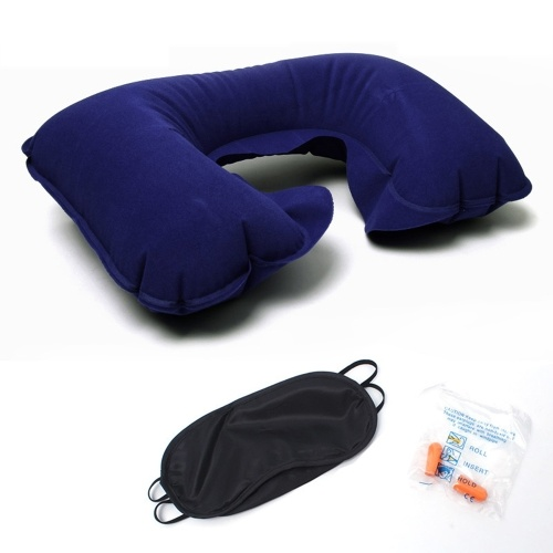 Outdoor travel Sambo PVC flocking inflatable U-shaped pillow
