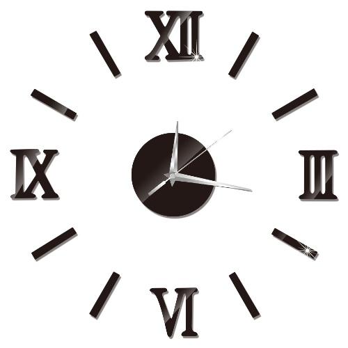 ローマの時計の壁のステッカーの時計DIYの壁時計黒