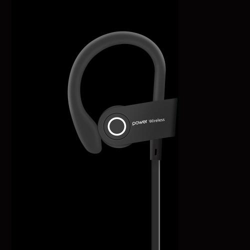 V5 fone de ouvido Bluetooth preto