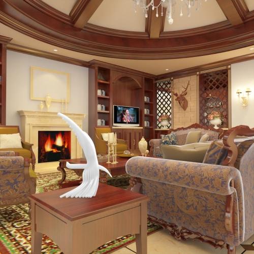 Águila 3D Impreso Sculptiure la decoración del hogar del ornamento Tomfeel