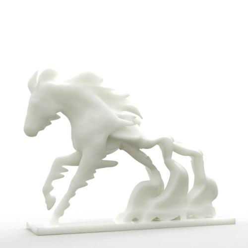 Carrera de caballos contra el tiempo Tomfeel 3D Escultura Impreso decoración del hogar del caballo del tiempo