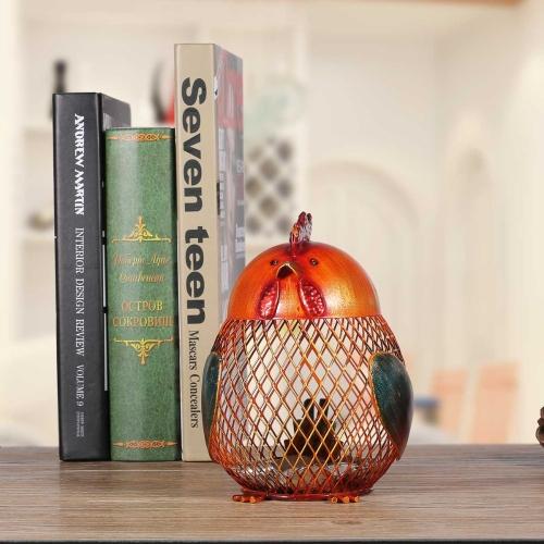 Tooarts Piggy Bank Metal Craft Animal Figurine decoración del hogar regalo