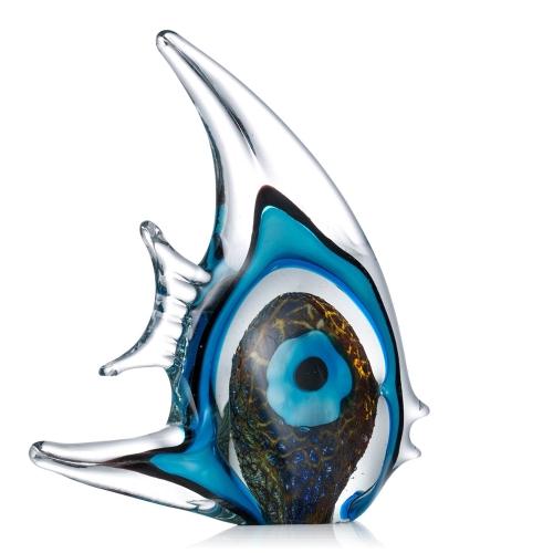 Blue Stripe Tropical Fish Tooarts Glass Sculpture Home Decoration Glass FishHome &amp; Garden<br>Blue Stripe Tropical Fish Tooarts Glass Sculpture Home Decoration Glass Fish<br>