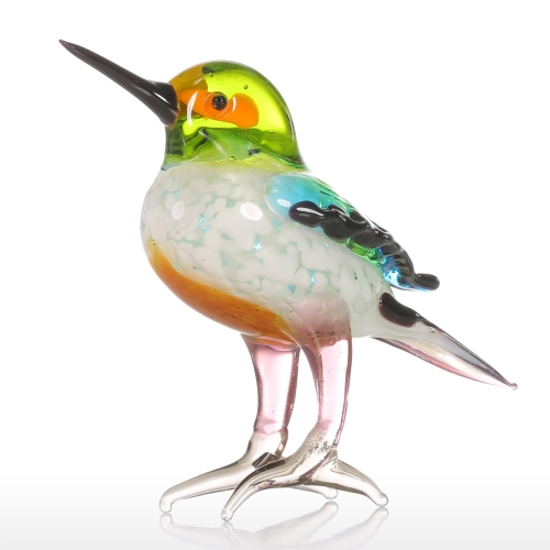Tooarts小さな鳥の贈り物のガラスの装飾動物の置物手ぶれのホームインテリア