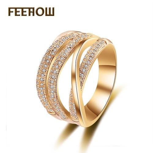 FEEHOW Korean version of the new zircon ring