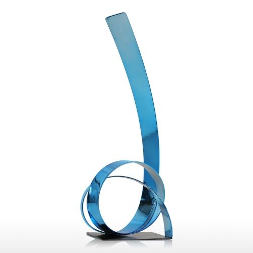 The Rising Ribbon Metal Sculpture Iron Modern Sculpture Abstract Sculpture Handicraft Decoration Ornament BlueHome &amp; Garden<br>The Rising Ribbon Metal Sculpture Iron Modern Sculpture Abstract Sculpture Handicraft Decoration Ornament Blue<br>