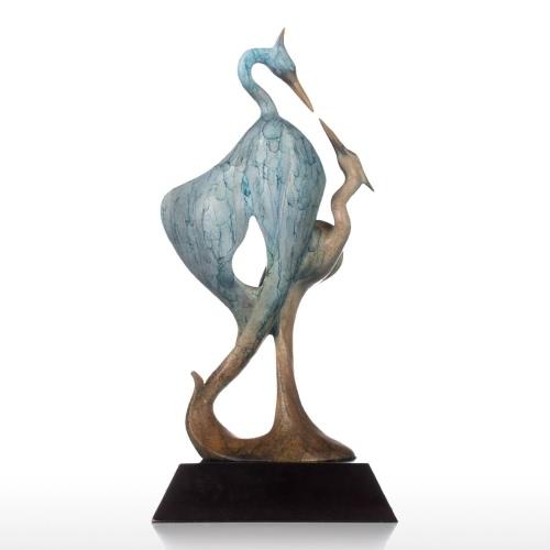 Double Crane Bronze Sculpture Aesthetic Shape Animal Sculpture Copper CraneHome &amp; Garden<br>Double Crane Bronze Sculpture Aesthetic Shape Animal Sculpture Copper Crane<br>