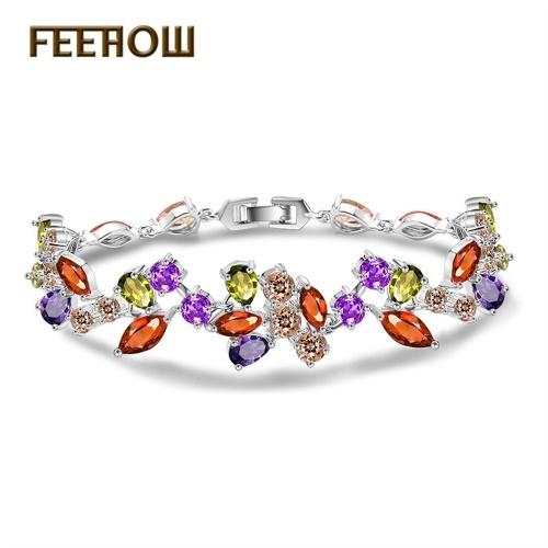 FEEHOW beautiful wreath AAA zircon bracelet