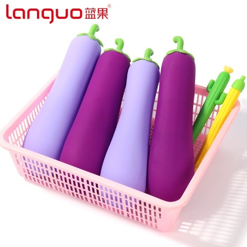 New creative student eggplant pencil case