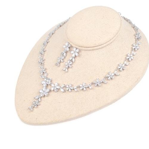 FEEHOW nuova collana di gioielli in argento con zirconi di bauhinia con catena di vanità fresca
