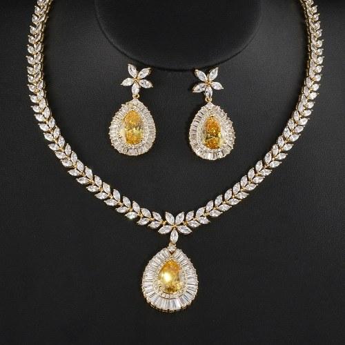 FEEHOW nuovo set di gioielli da sposa europei e americani