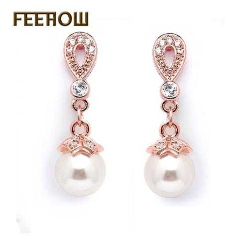 Korean fashion long pearl earrings