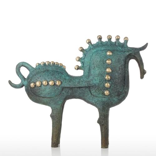 Преувеличенная лошадь Бронзовая скульптура Абстракционизм Декорации Современное искусство Животное Скульптура Лошадь