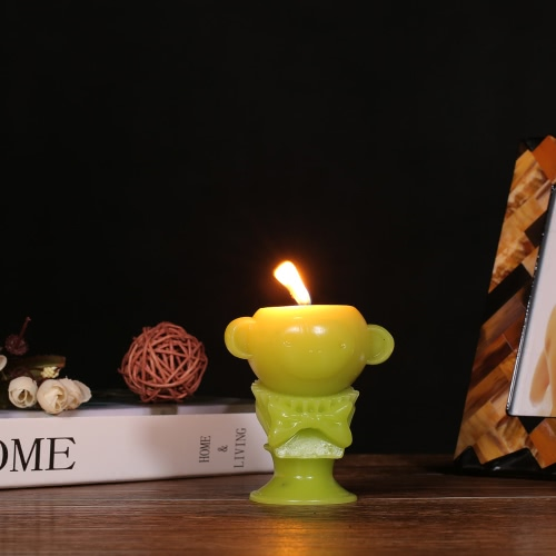 Tomfeel Scented Candle - Green Monkey Decorative Aromatherapy Wax Natural Cotton WickHome &amp; Garden<br>Tomfeel Scented Candle - Green Monkey Decorative Aromatherapy Wax Natural Cotton Wick<br>