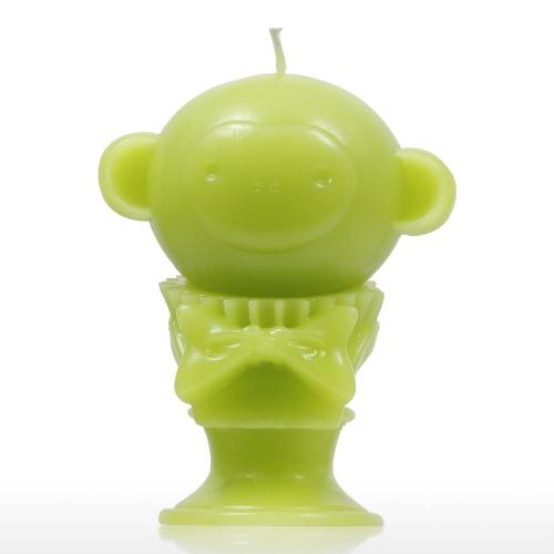 Tomfeel Vela Perfumada - Green Monkey Decorative Aromatherapy Wax Algodón Natural Mecha