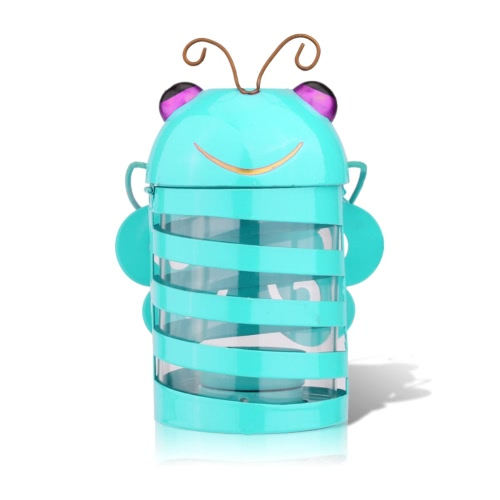 Tooarts Bee candle holder(light blue) Hurricane lamp Practical ornament Creative ornament Home Furnishing ArticlesHome &amp; Garden<br>Tooarts Bee candle holder(light blue) Hurricane lamp Practical ornament Creative ornament Home Furnishing Articles<br>
