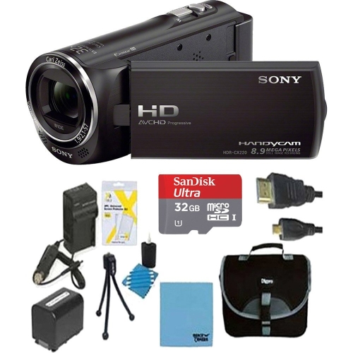 Sony HDRCX405 Handycam Camcorder Bundle with Micro SD Card, Battery and Accessories (10 Items)Cameras &amp; Photo Accessories<br>Sony HDRCX405 Handycam Camcorder Bundle with Micro SD Card, Battery and Accessories (10 Items)<br>