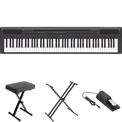 Yamaha P115 Digital Piano Bundle with Bench, Stand, and Sustain Pedal, BlackToys &amp; Hobbies<br>Yamaha P115 Digital Piano Bundle with Bench, Stand, and Sustain Pedal, Black<br>