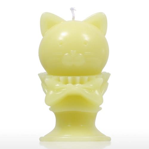 Tomfeel Aroma Candle - Gatito Amarillo Decorativo Aromaterapia Cera Algodón Natural Mecha