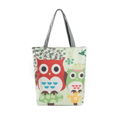 New Vintage Women Canvas Handbag Owl Print Large Capacity Casual Shopping Shoulder Bag ToteApparel &amp; Jewelry<br>New Vintage Women Canvas Handbag Owl Print Large Capacity Casual Shopping Shoulder Bag Tote<br>