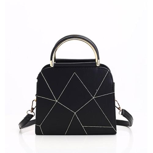 Women Accessary Fashion Simple Design Geometrical Line HandbagApparel &amp; Jewelry<br>Women Accessary Fashion Simple Design Geometrical Line Handbag<br>