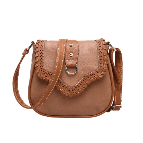 Retro Women Crossbody Bags PU Leather Woven Splice Shoulder Messenger Bag Small Handbag Satchel ToteApparel &amp; Jewelry<br>Retro Women Crossbody Bags PU Leather Woven Splice Shoulder Messenger Bag Small Handbag Satchel Tote<br>