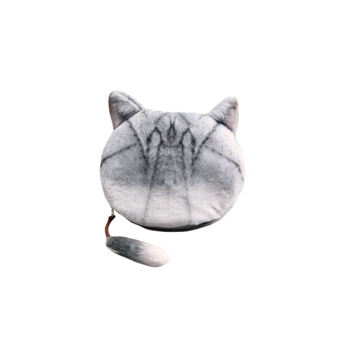 Fashion Women Cute Coin Purse Cat Head Print Tail Mini Wallet Zipper Closure Small Clutch BagApparel &amp; Jewelry<br>Fashion Women Cute Coin Purse Cat Head Print Tail Mini Wallet Zipper Closure Small Clutch Bag<br>