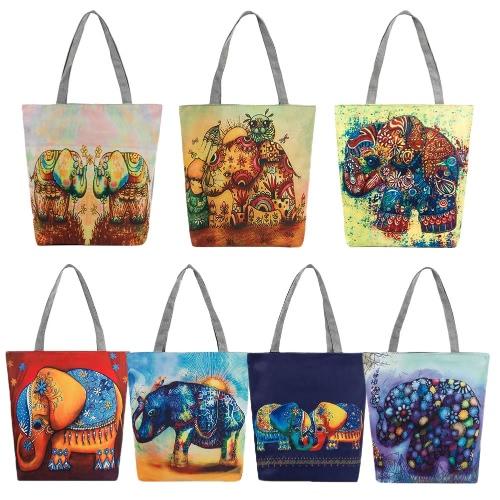 New Women Canvas Handbag Animal Print Shoulder Bag Large Capacity Casual Shopping Bag ToteApparel &amp; Jewelry<br>New Women Canvas Handbag Animal Print Shoulder Bag Large Capacity Casual Shopping Bag Tote<br>