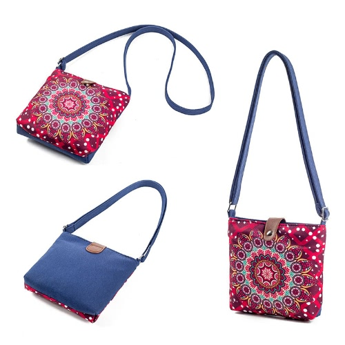 New Vintage Women Floral Printed Canvas Crossbody Messenger Bag Ethnic Shopping Bag Casual Shoulder Flap BagApparel &amp; Jewelry<br>New Vintage Women Floral Printed Canvas Crossbody Messenger Bag Ethnic Shopping Bag Casual Shoulder Flap Bag<br>