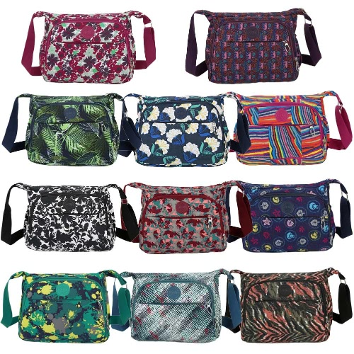 New Women Crossbody Bag Contrast Color Print Water-Proof Multi Pockets Adjustable Strap Casual Shoulder BagApparel &amp; Jewelry<br>New Women Crossbody Bag Contrast Color Print Water-Proof Multi Pockets Adjustable Strap Casual Shoulder Bag<br>