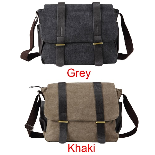 New Fashion Men Canvas Crossbody Bag Large Capacity Multi-Pockets Cover Zipper Casual Vintage Shoulder Bags Grey/KhakiApparel &amp; Jewelry<br>New Fashion Men Canvas Crossbody Bag Large Capacity Multi-Pockets Cover Zipper Casual Vintage Shoulder Bags Grey/Khaki<br>
