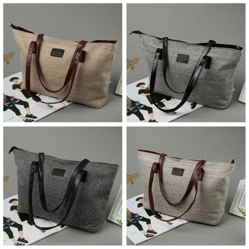 New Fashion Women Handbag Solid Color PU Splicing Large Capacity Casual Shopping Shoulder Bag ToteApparel &amp; Jewelry<br>New Fashion Women Handbag Solid Color PU Splicing Large Capacity Casual Shopping Shoulder Bag Tote<br>