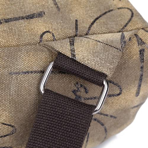 New Fashion Women Printed Canvas Backpack Leather Metal Zipper Casual Schoolbag Travel Bag Blue/Khaki/GreyApparel &amp; Jewelry<br>New Fashion Women Printed Canvas Backpack Leather Metal Zipper Casual Schoolbag Travel Bag Blue/Khaki/Grey<br>