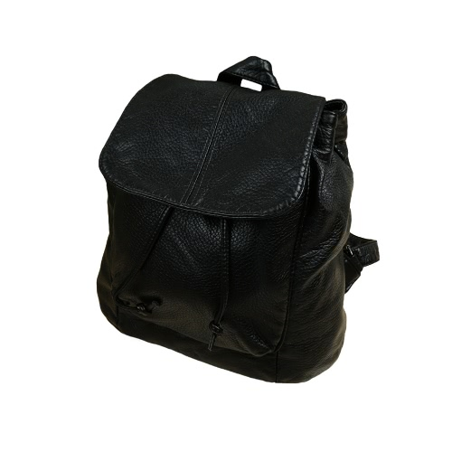 Fashion PU Leather Drawstring Snap Cover Solid Causal Backpack for WomenApparel &amp; Jewelry<br>Fashion PU Leather Drawstring Snap Cover Solid Causal Backpack for Women<br>
