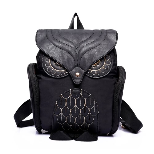 New Fashion Women Owl Shape Backpack Flap Over Zipper Pocket Solid Color Satchel Student BagsApparel &amp; Jewelry<br>New Fashion Women Owl Shape Backpack Flap Over Zipper Pocket Solid Color Satchel Student Bags<br>