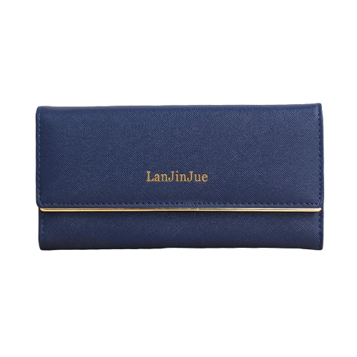 New Fashion Women Long Wallet PU Leather Solid Color Button Coin Purse Card HolderApparel &amp; Jewelry<br>New Fashion Women Long Wallet PU Leather Solid Color Button Coin Purse Card Holder<br>