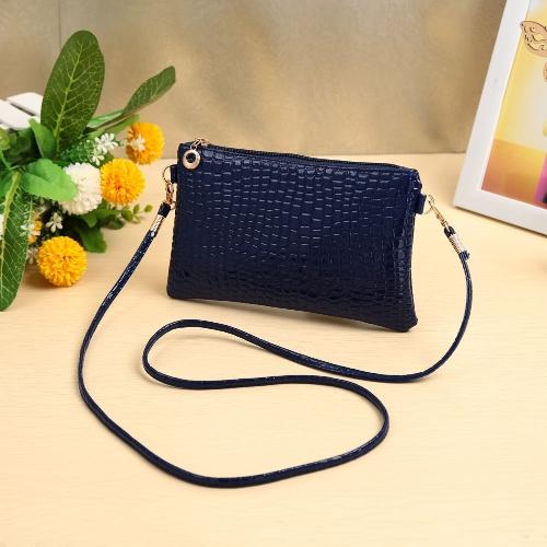 Cute Crocodile Patten Mini P U Leather Zipper Handbag for WomenApparel &amp; Jewelry<br>Cute Crocodile Patten Mini P U Leather Zipper Handbag for Women<br>
