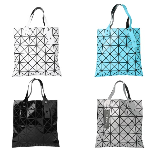 New Women Shoulder Bag Geometric Plaid  Foldable Adjustable Handle Casual Tote BagApparel &amp; Jewelry<br>New Women Shoulder Bag Geometric Plaid  Foldable Adjustable Handle Casual Tote Bag<br>