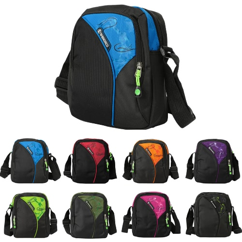 New Unisex Nylon Crossbody Bag Waterproof Contrast Color Zipper Multi-Pockets Casual Sport Outdoor Small Shoulder BagsApparel &amp; Jewelry<br>New Unisex Nylon Crossbody Bag Waterproof Contrast Color Zipper Multi-Pockets Casual Sport Outdoor Small Shoulder Bags<br>