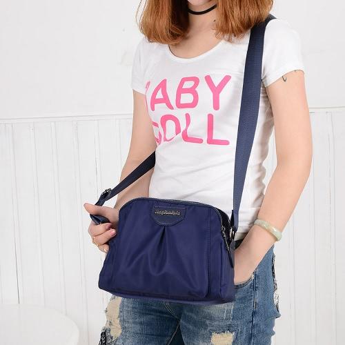 Women Nylon Shoulder Bag Zipper Adjustable Strap Waterproof Durable Casual Travel Crossbody BagApparel &amp; Jewelry<br>Women Nylon Shoulder Bag Zipper Adjustable Strap Waterproof Durable Casual Travel Crossbody Bag<br>
