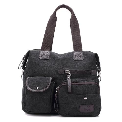 Women Canvas Handbag Casual Shoulder Bag Large Capacity Vintage Crossbody Tote Travel BagApparel &amp; Jewelry<br>Women Canvas Handbag Casual Shoulder Bag Large Capacity Vintage Crossbody Tote Travel Bag<br>