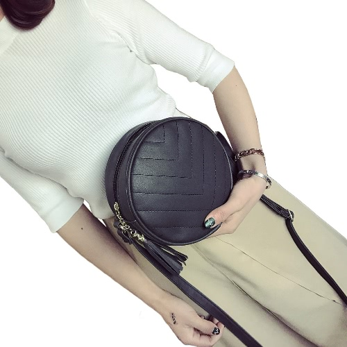 Women Quilted Crossbody Bag Tassel PU Leather Shoulder Messenger Bag Tote Handbag Black/Green/GreyApparel &amp; Jewelry<br>Women Quilted Crossbody Bag Tassel PU Leather Shoulder Messenger Bag Tote Handbag Black/Green/Grey<br>