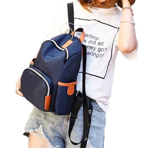 Men Women Nylon Backpack Earphone Pot Zipper Adjustable Strap Casual School Travel Shoulder BagApparel &amp; Jewelry<br>Men Women Nylon Backpack Earphone Pot Zipper Adjustable Strap Casual School Travel Shoulder Bag<br>