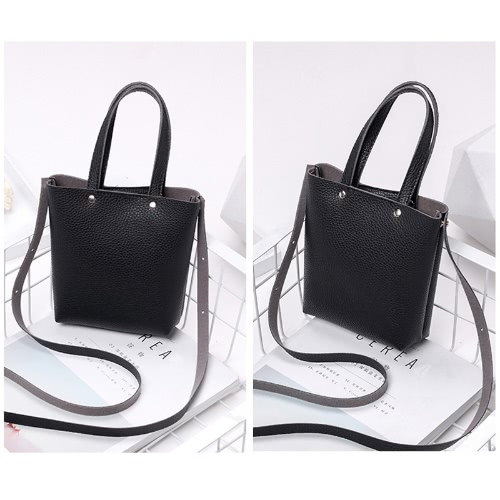 Fashion Women Mini Handbag PU Leather Solid Color Small Crossbody Shoulder Bucket BagApparel &amp; Jewelry<br>Fashion Women Mini Handbag PU Leather Solid Color Small Crossbody Shoulder Bucket Bag<br>