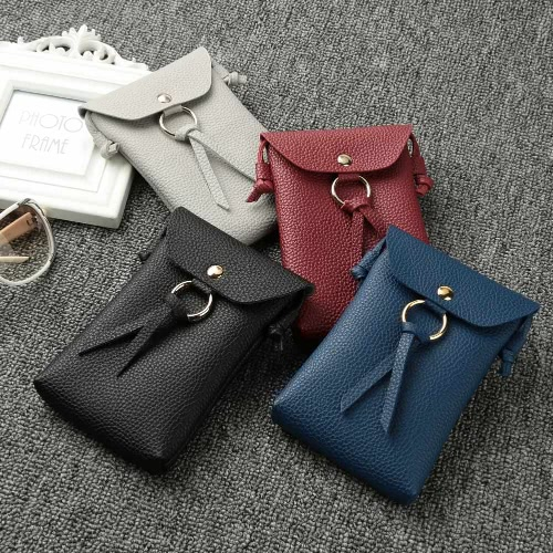 Women Mini Shoulder Bag PU Leather Solid Square Flap Front Small Casual Messenger Bag Crossbody BagApparel &amp; Jewelry<br>Women Mini Shoulder Bag PU Leather Solid Square Flap Front Small Casual Messenger Bag Crossbody Bag<br>