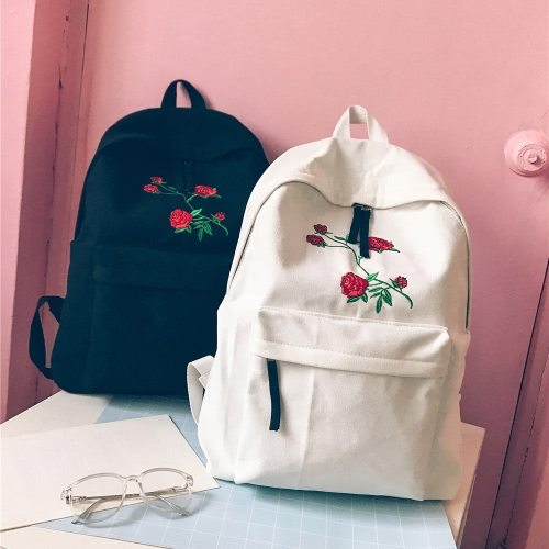Women Backpack Floral Rose Embroidery Zipper High Capacity Multifunction Teenagers Schoolbag KnapsackApparel &amp; Jewelry<br>Women Backpack Floral Rose Embroidery Zipper High Capacity Multifunction Teenagers Schoolbag Knapsack<br>