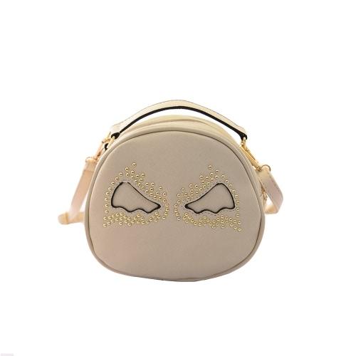 Fashion Women Shoulder Bag PU Leather Cute Wings Rivet Round Shape Mini Messenger Bag HandbagApparel &amp; Jewelry<br>Fashion Women Shoulder Bag PU Leather Cute Wings Rivet Round Shape Mini Messenger Bag Handbag<br>